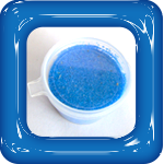 gekleurd zand blauw