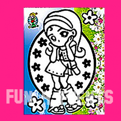 bloemen meisje zandkleurplaten