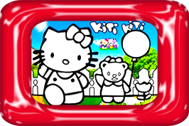 hello kitty zandkleurplaten