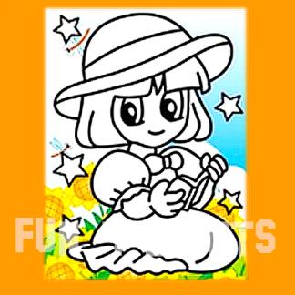 lezend meisje zandtekening