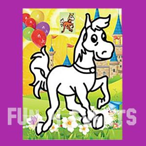 paard zandkleurplaten