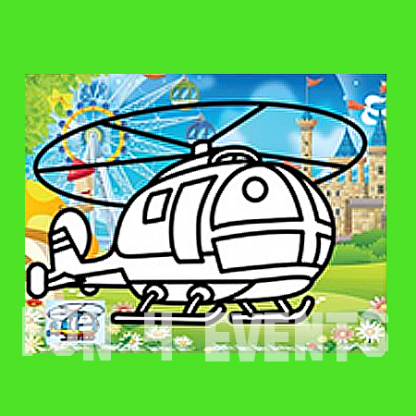 zandkleurplaten helicopter