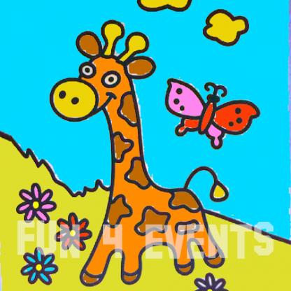 zandtekening giraffe