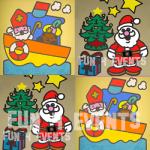 sint en kerst zandtekening