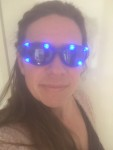 lichtgevende LED bril