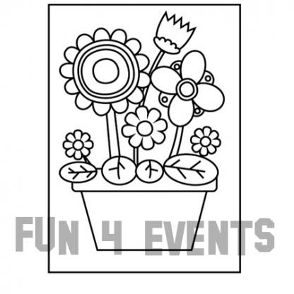 zandkleurplaat bloemen in vaas