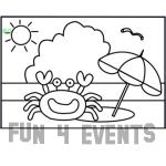 zandkleurplaat crab
