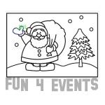 zandkleurplaat kerstman sneeuw