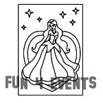 Zandkleurplaat prinses ster