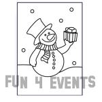 zandkleurplaat sneeuwpop