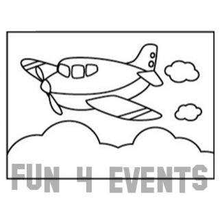zandkleurplaat vliegtuig