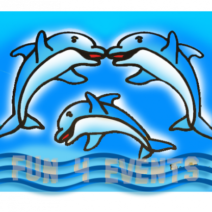 zandtekening dolfijn