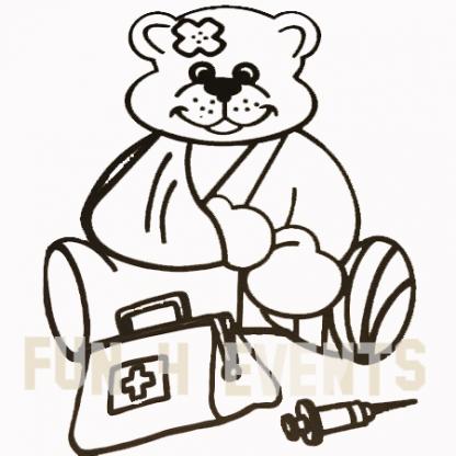 zieke beer zandtekening