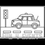 zandtekening auto