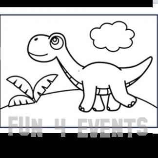 zandtekening dinosaurus
