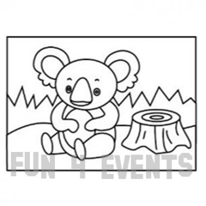 zandtekening koala beer