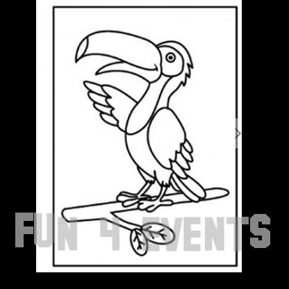 zandtekening papegaai