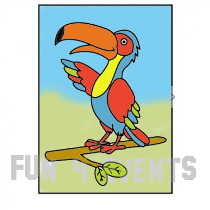papegaai zandtekening