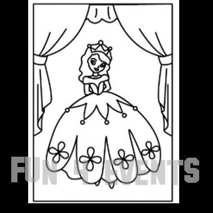 zandtekening prinses