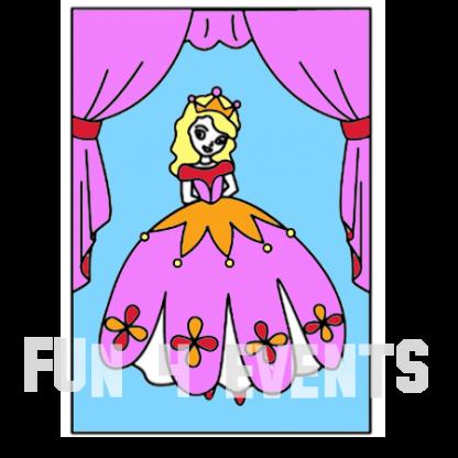 prinses zandtekening