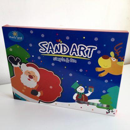 zandtekening pakket kerst