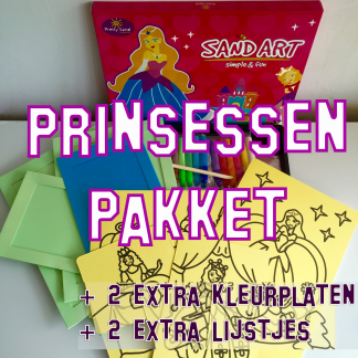 zandtekeningen pakket prinsessen