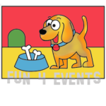 hondje met bak zandtekening
