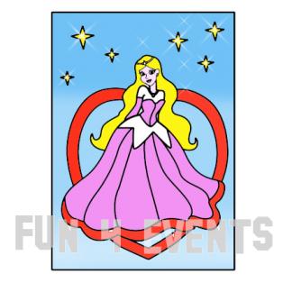 princes met sterren zandtekening