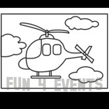 zandtekening helikopter