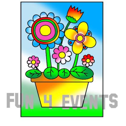 zandkleurplaat bloemen in vaaskopie