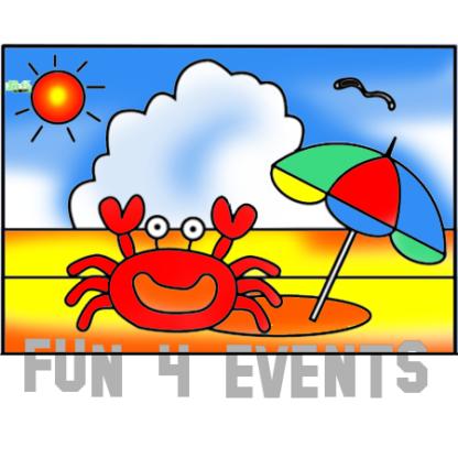 zandkleurplaat krab