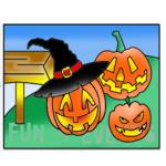 zandkleurplaat pompoen halloweenkopie