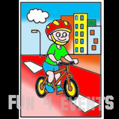 zandtekening fiets