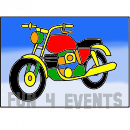 zandtekening motorfiets