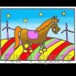 zandtekening paard