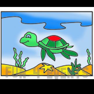 zandtekening schildpad