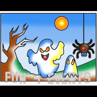 zandtekening spook