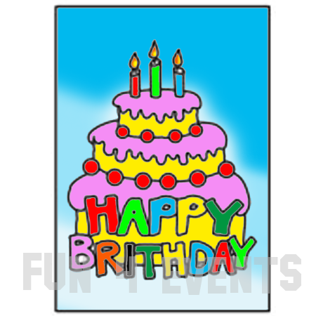 zandtekening verjaardag taart