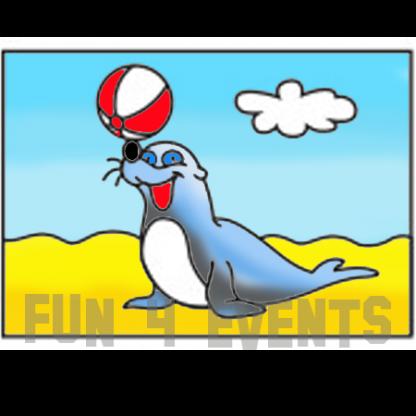 zandtekening zeehond