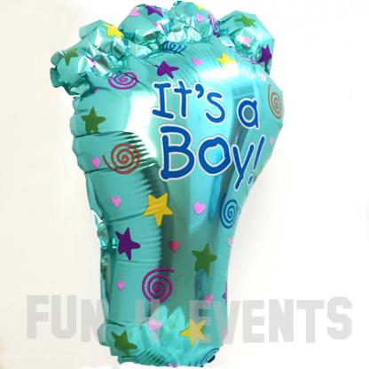 babyvoetje jongen ballon
