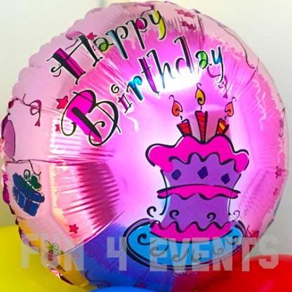 happy birthday helium ballon