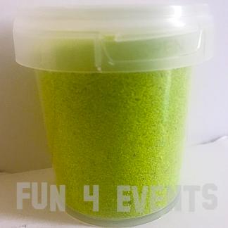 potje licht groen zand