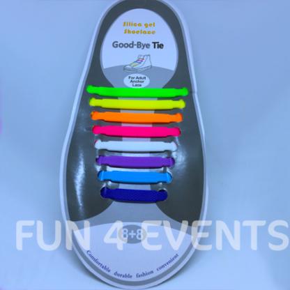 elastische schoenveters regenboog