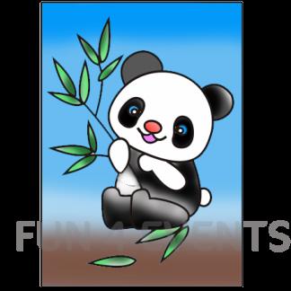 panda gekleurd zand