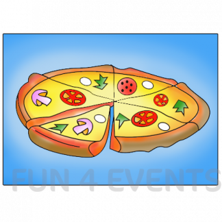 pizza gekleurd zand