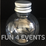 zandkunst lege flesjes